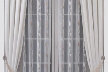 Штора: ткань арт.7650-0002 Гардина: ткань арт.11252-0035. Декор: подхват для штор арт.2944