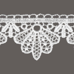 кружево для штор, скатертей и салфеток цвет: белый, беж ширина 4,5см