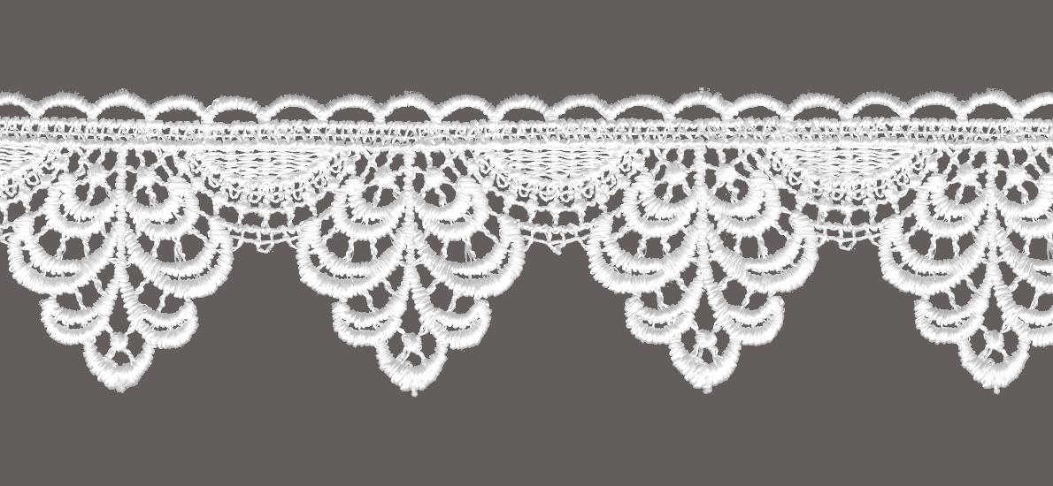 кружево для штор, скатертей салфеток цвет: белый ширина 5,5см