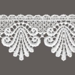 кружево для штор, скатертей салфеток цвета: белый и беж ширина 5,5см