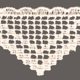 кружево для штор, скатертей салфеток цвета: белый и беж матовые ширина 5,3см