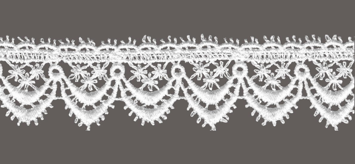 кружево для штор, скатертей салфеток цвета: белый и беж ширина 4см