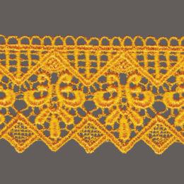 кружево для штор, скатертей и салфеток цвета: белый, беж, черный, синий, желтый ширина 4,3см