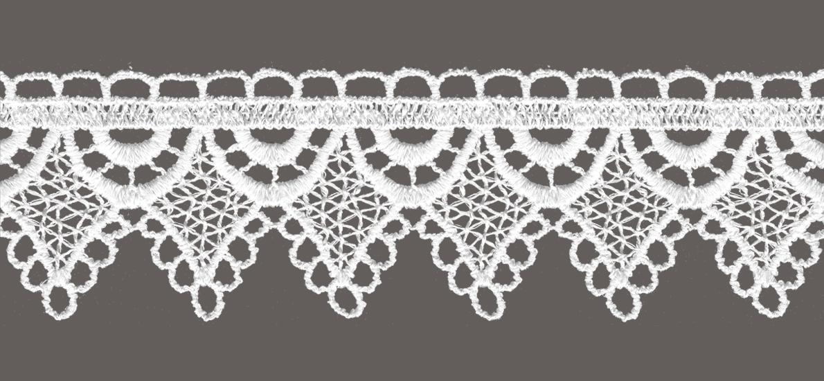 кружево для штор, скатертей салфеток цвет: белый ширина 4,7см