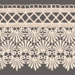 кружево для штор цвет: белый, беж ширина 10см