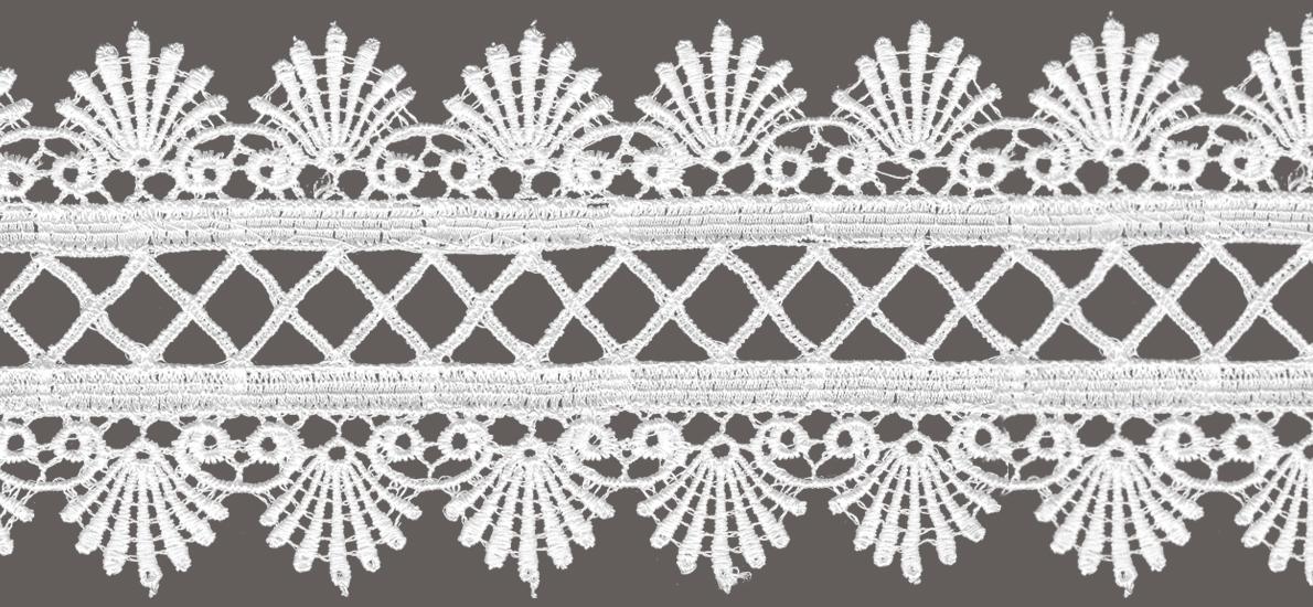 кружево для штор цвет: белый, ширина 8см