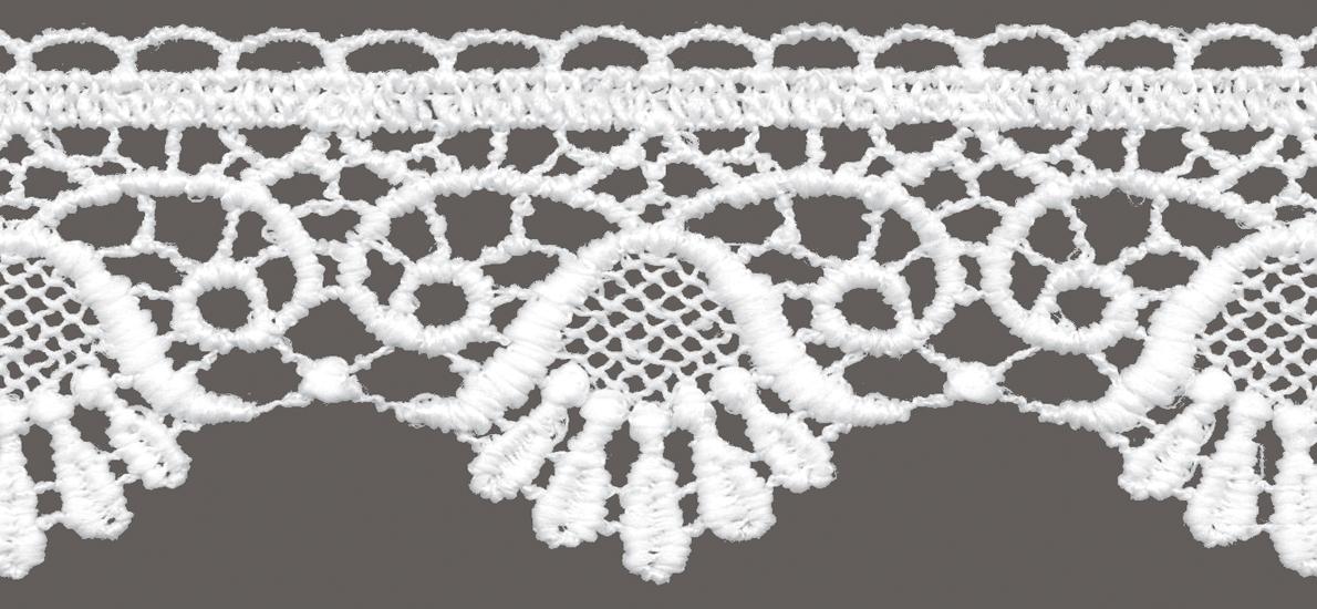 кружево для штор, скатертей салфеток цвет: белый матовый ширина 5см