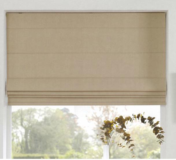 ткань для римской шторы с вытканными тонельками в готовом изделии