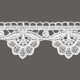 кружево для штор, скатертей и салфеток цвет: белый 4см
