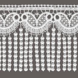 кружево для штор цвет: белый ширина 10см и 14см