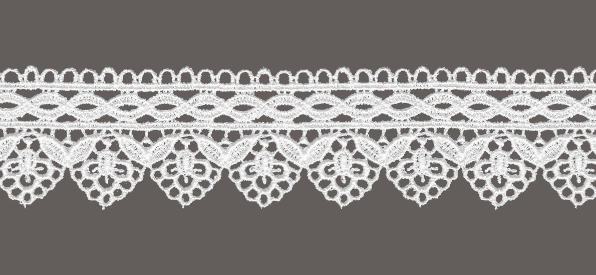 кружево для штор, скатертей салфеток цвета: белый и беж ширина 4,5см